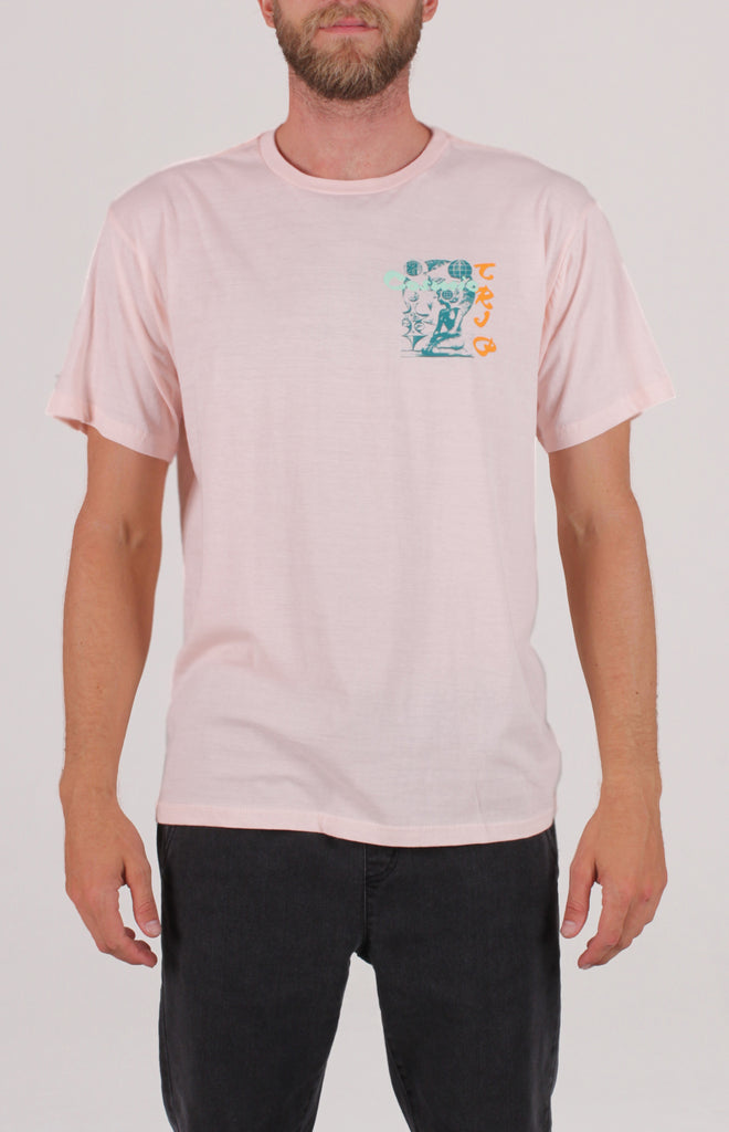 Banner SS Tee | Light Pink