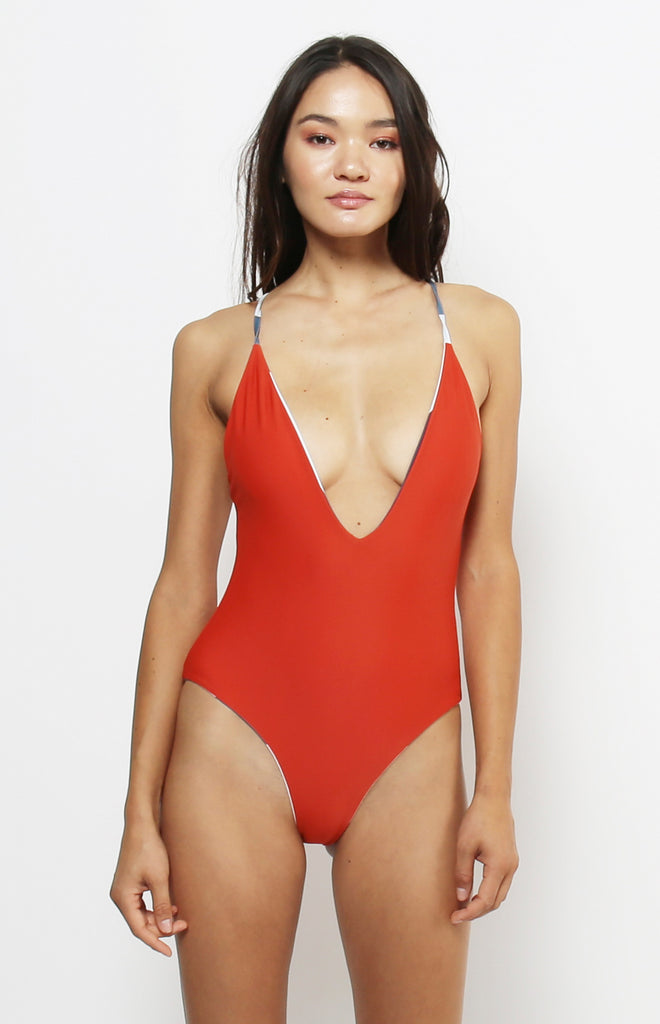 Tropez Reversible One Piece | Blue