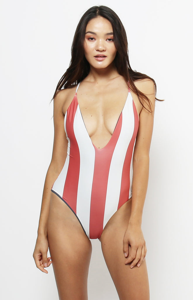 Tropez Reversible One Piece | Red Ochre