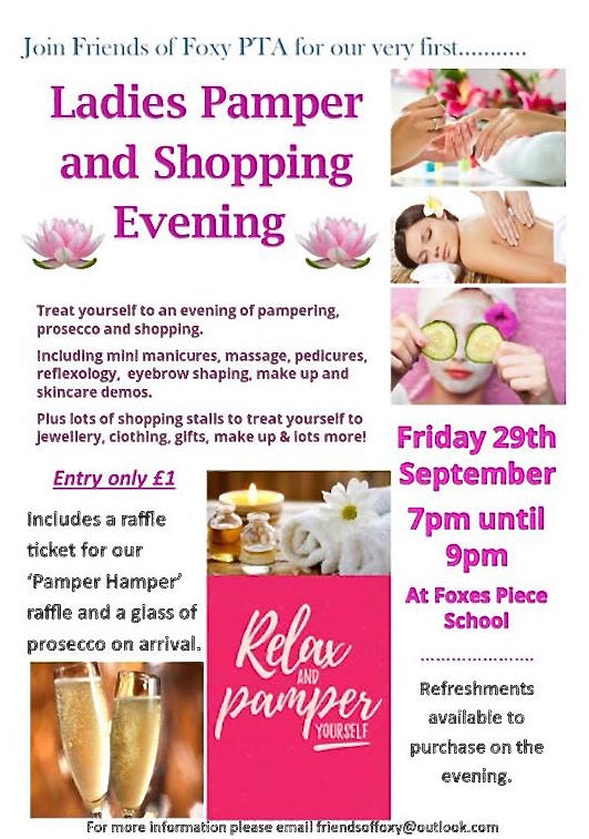 Ladies Pamper Evening.
