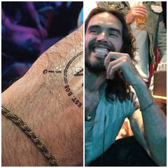 Russel Brandt wearing our crochet bracelet