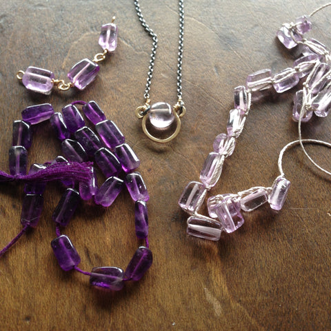 Amethyst Horse Shoe Necklace