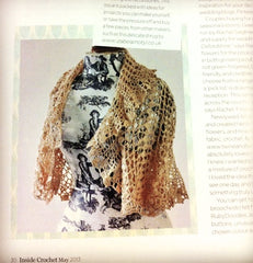 my shrug featured in the inside crochet magazine