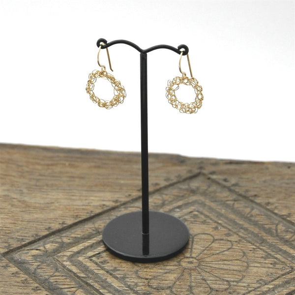 Crocheted Hoop Earrings by Izabela Motyl