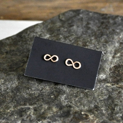 infintity stud earrings