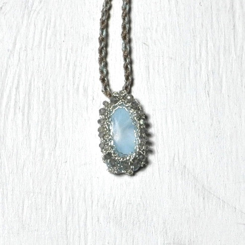 Caged Larimar Necklace by Izabela Motyl