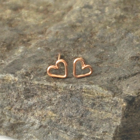 Pretty Little Heart Studs by Izabela Motyl