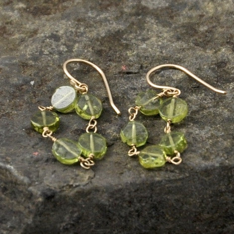Peridot Flow Earrings by Izabela Motyl