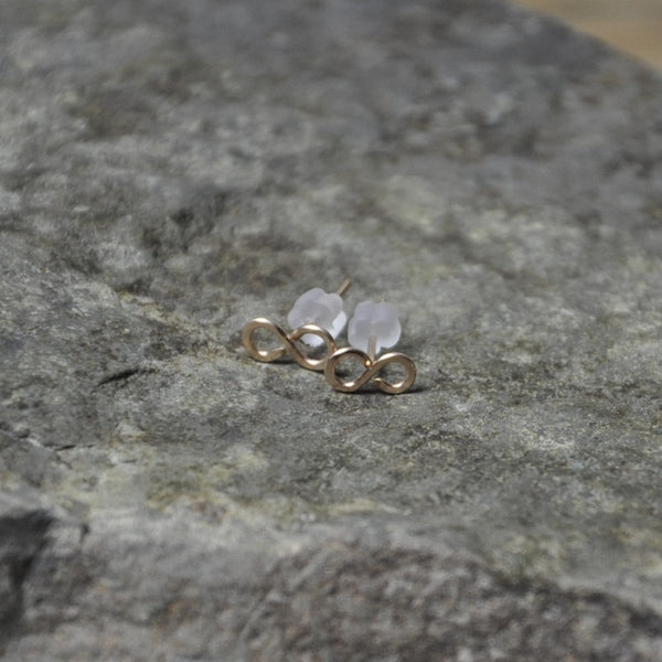 gold filled infinity stud earrings