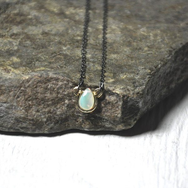 Horse Shoe Opal Necklace by Izabela Motyl