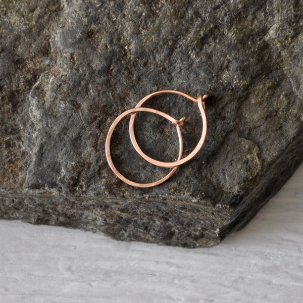 Hand Forged Hoop Earrings