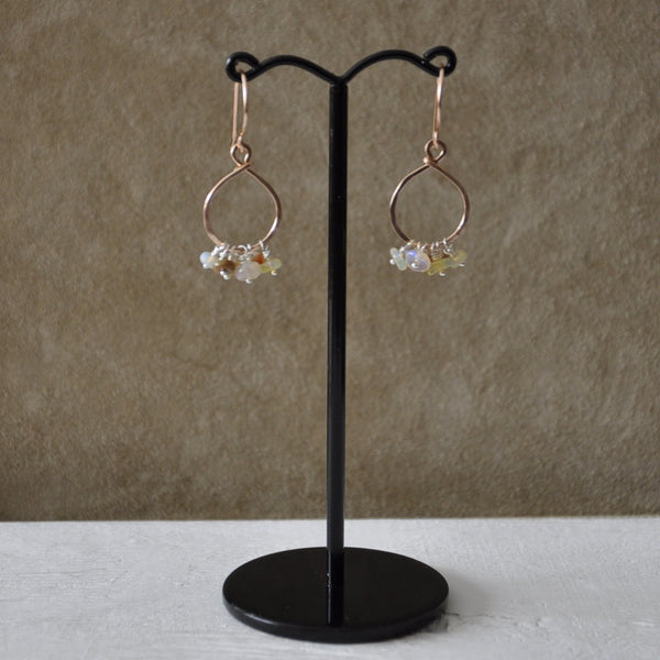 Dangly Opal Dew Drop Earrings by Izabela Motyl