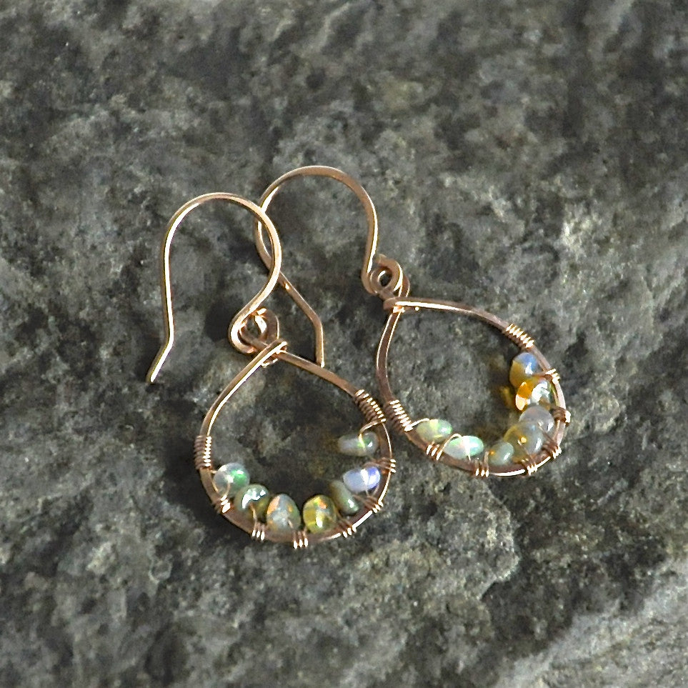 Dew Drop Opal Earrings by Izabela Motyl