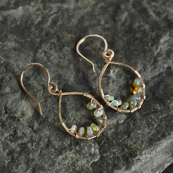 izabela motyl opal earrings