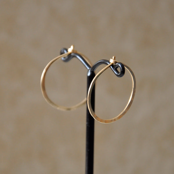 Hand Forged Hoop Earrings by Izabela Motyl