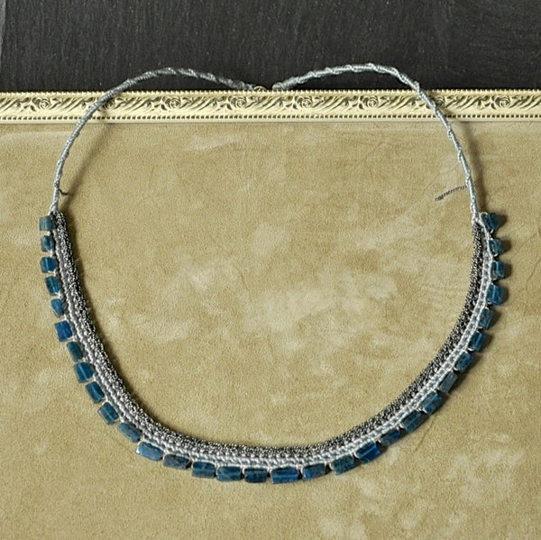 Apatite Crochet Necklace by Izabela Motyl