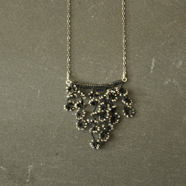 Flower Fall Bar Necklace by Izabela Motyl