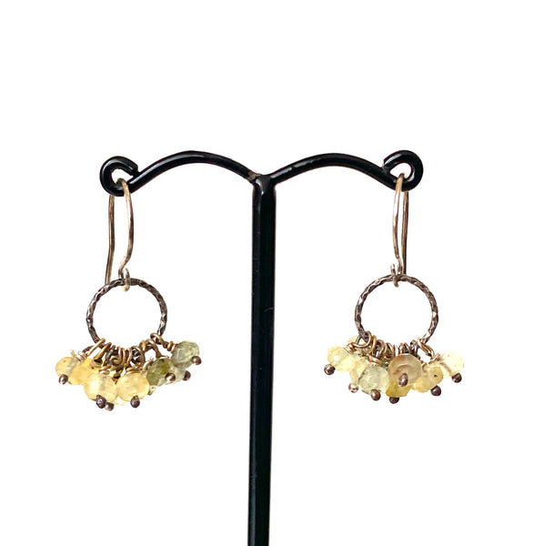 Yellow Tourmaline Drop Earrings