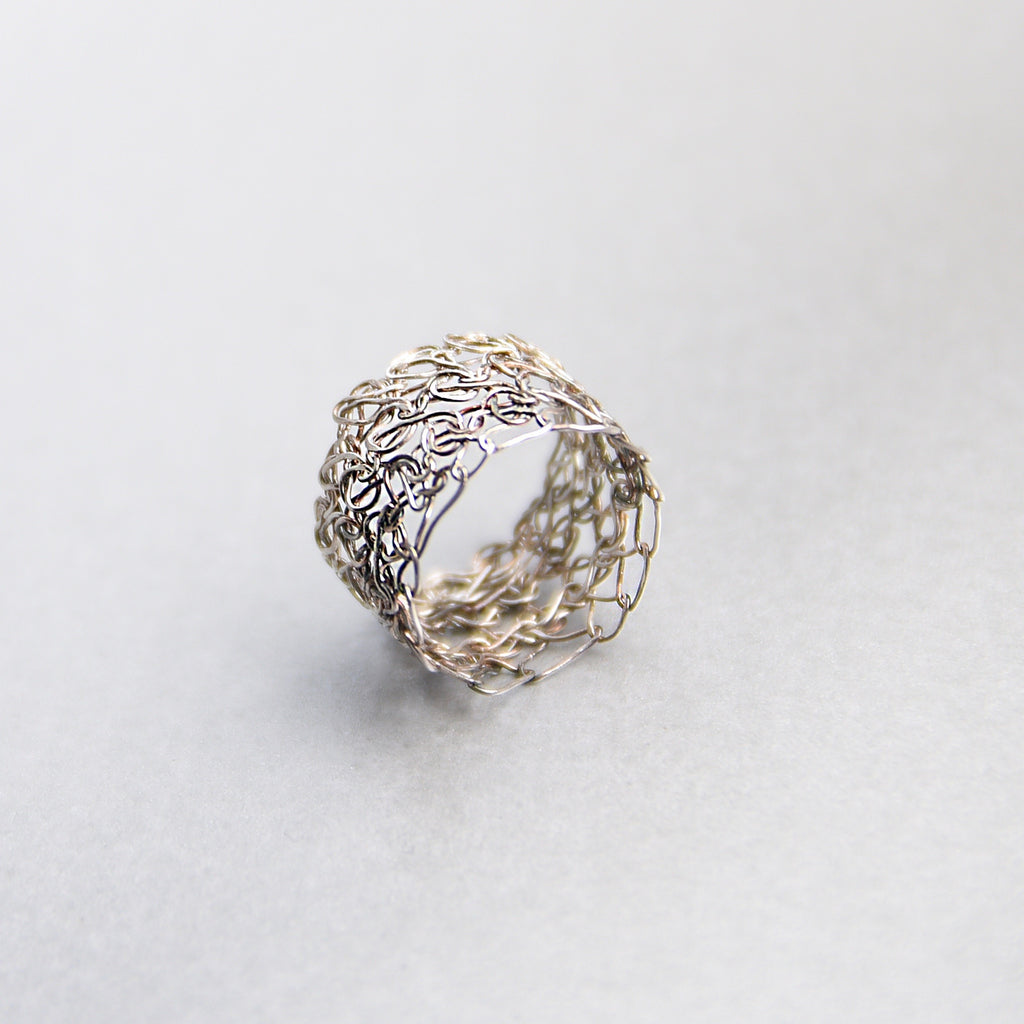 Wide Crocheted Ring