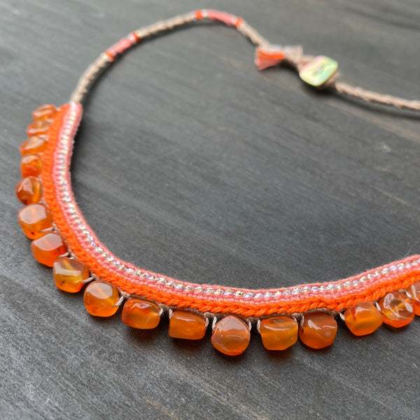 Carnelian Silk Necklace