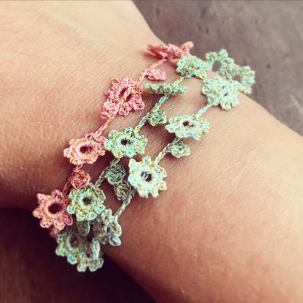 Summer Flower Friendship Bracelet by Izabela Motyl