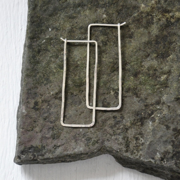Rectangular Hoop Earrings by Izabela Motyl