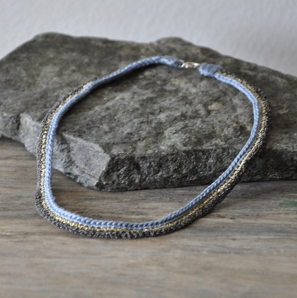 River Silver And Silk Necklace by Izabela Motyl