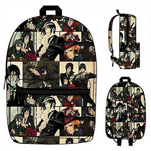 Backpack - Black Butler - Sublimated New School Bag, Bags, Bioworld - Anime Monster
