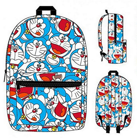 Backpack - Doreamon - Collage Sublimated New School Bag, Bags, Bioworld - Anime Monster
