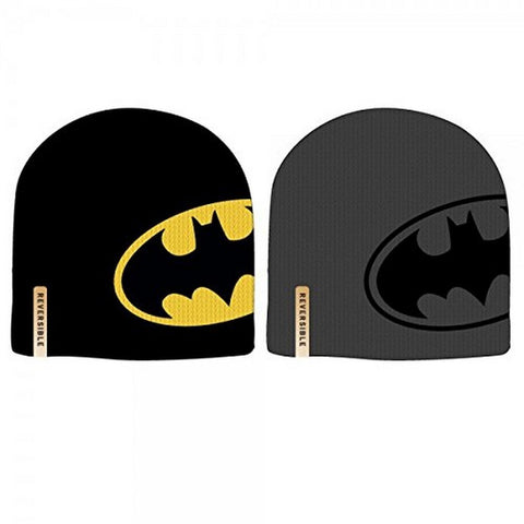 Batman Reversible Cap Beanie One Size Fits Most, Beanies, Bioworld - Anime Monster