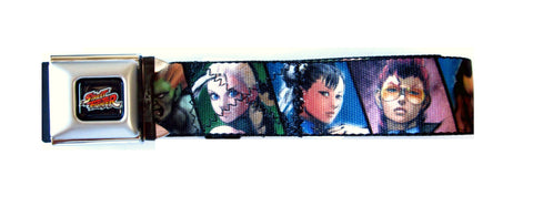Official Nylon Belt Seatbelt Buckle 24-36in-Street Fighter Characters, Belts, Buckle Down - Anime Monster