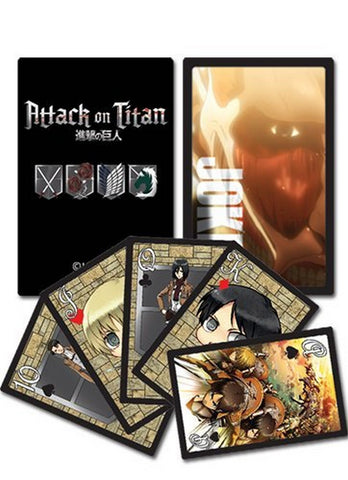 Attack On Titan Playing Cards, Trading Cards, GE Entertainment - Anime Monster