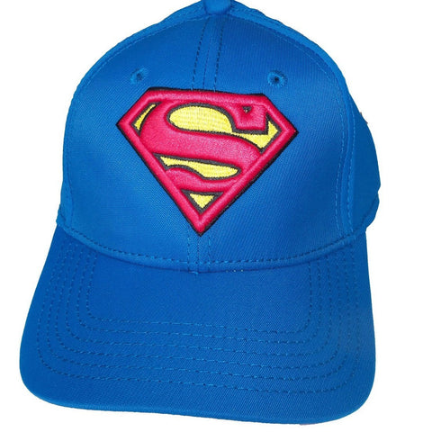 Baseball Cap Superman Logo Blue Active Hat New One Size Fits Most Adults Fitted, Hats, DC Collectibles - Anime Monster