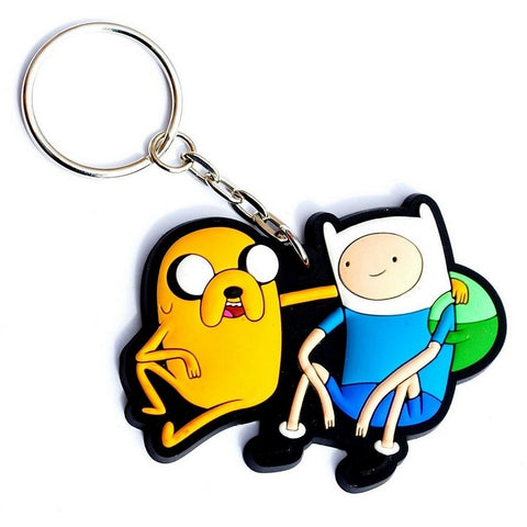 "Adventure Time Finn and Jake 3-d Rubber Keychain 2"", Keychains, Hot Properties - Anime Monster"