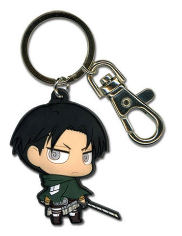 "ATTACK ON TITAN - SD LEVI PVC KEYCHAIN 2"" Character, Keychains, GE Entertainment - Anime Monster"