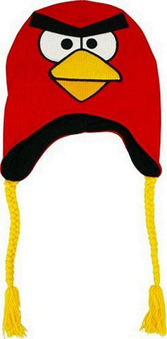 Angry Birds Red Bird Knit Peruvian Laplander Cap, Beanies, Concept One - Anime Monster