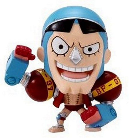 "One Piece Bandai: DMP Trading Figure Vol. 4 w/ Base-2.5"" Franky, Mini Figures, BANDAI - Anime Monster"