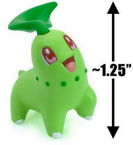 "Pokemon Clipping Figure Series 6 Mini-Figure-1.25"" Chikorita, Mini Figures, BANDAI - Anime Monster"