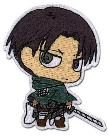 "ATTACK ON TITAN - LEVI SD PATCH Cloth Iron On Patch- 2.5"" Tall, Patches, GE Entertainment - Anime Monster"