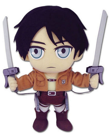 "Great Eastern GE-52560 Attack on Titan 9.5"" Eren Yeager Plush, Plush, GE Entertainment - Anime Monster"