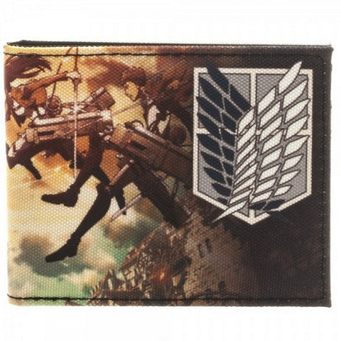 Bioworld Official Attack on Titan Bifold Wallet- Nylon, Wallets, Bioworld - Anime Monster