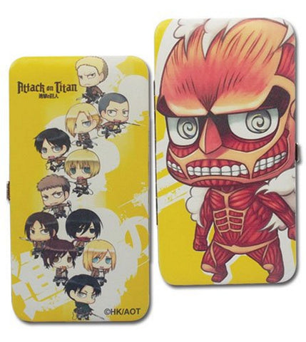 "Attack on Titan SD Group & Colossal Titan Wallet 4""x7"", Wallets, GE Entertainment - Anime Monster"