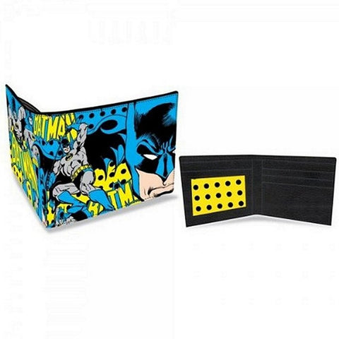 "Batman Collage Bi-Fold Wallet Faux Leather 4""x3"" Folded, Wallets, Bioworld - Anime Monster"