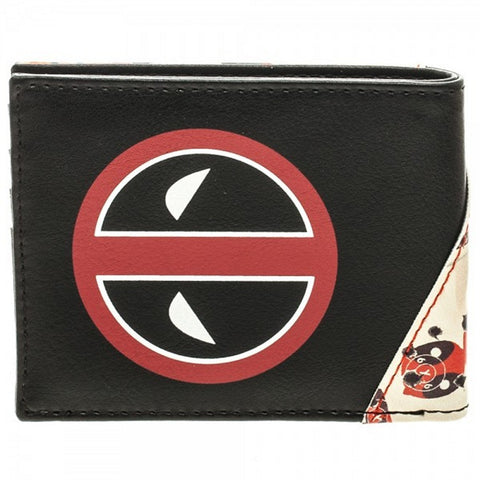 Bioworld Deadpool Marvel Deadpool Wallet- Faux Leather Mens Wallet, Wallets, Bioworld - Anime Monster