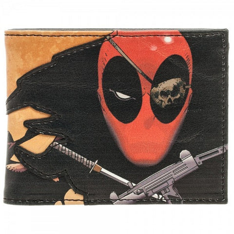Bioworld Official Bifold Wallet- Marvel- Deadpool Faux Leather Wallet, Wallets, Bioworld - Anime Monster