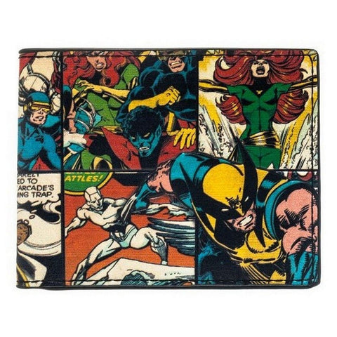 "Bioworld Marvel X-Men Collage Bi-Fold Wallet (Marvel) 4""x3"" Folded Faux Leather, Wallets, Bioworld - Anime Monster"