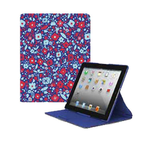 FitFolio for iPad 3 - BitsyFlora Blue/Red