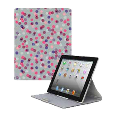 FitFolio for iPad 3 - SprinkleTwinkle Grey/Pink