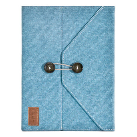 Dungarees - Portfolio Jacket for iPad 3 - Blue