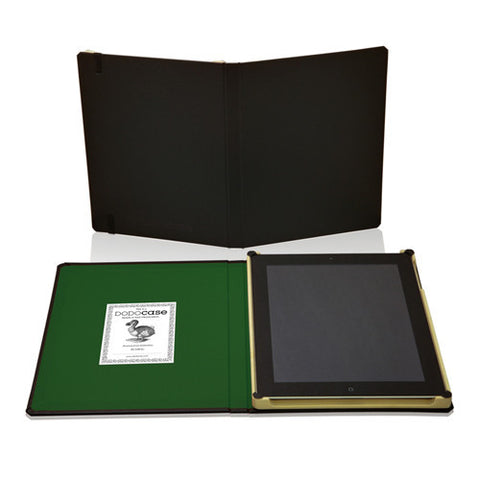 DODOCases Classic Black for iPad 2/3 (Green Interior)